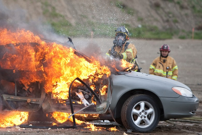 Teslas are not the only cars catching fire. With 150,000 gasoline-powered car fires happening each year, fire departments need to know how to handle them.