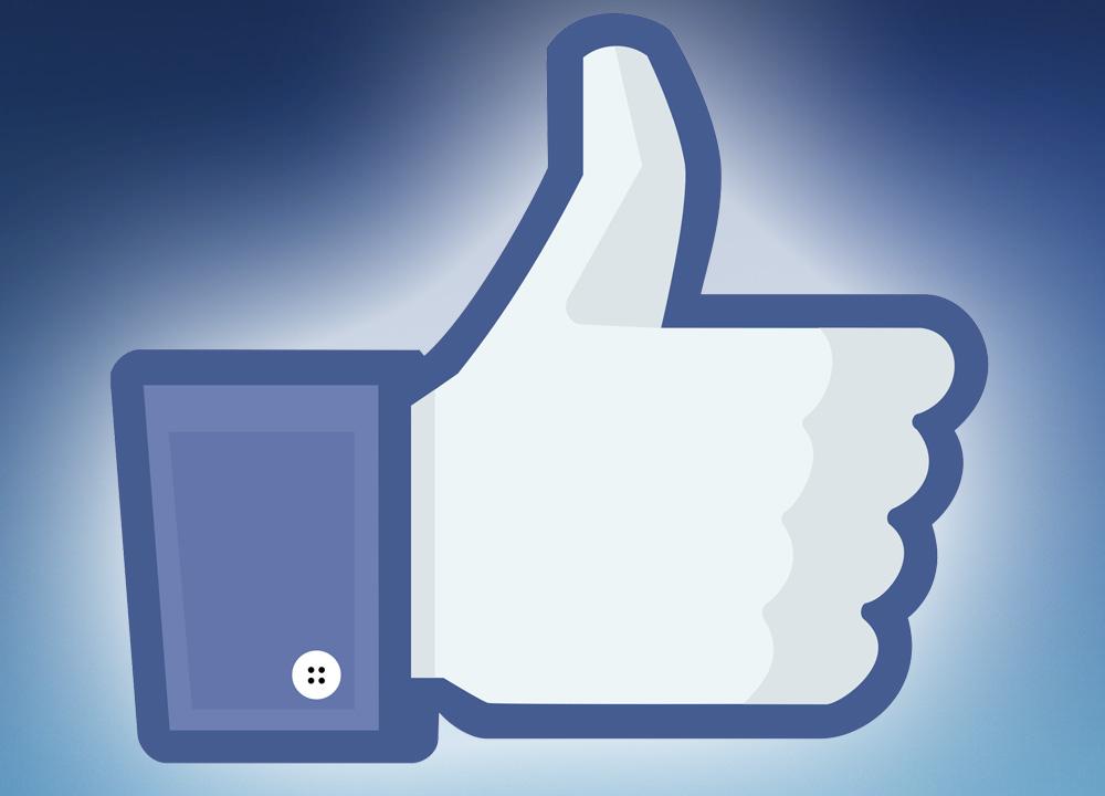 """Facebook's iconic """"like"""" symbol"""