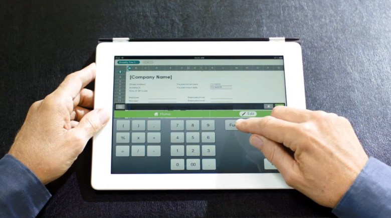 The HopTo app features contextual keyboards for Excel