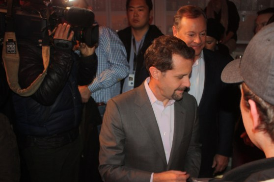 Andrew House, head of Sony's game division, showed up to hand out the first system.
