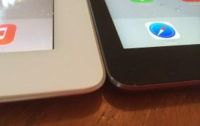 iPad Air and an iPad 2
