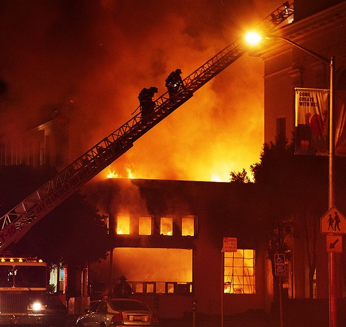 internet archive fire