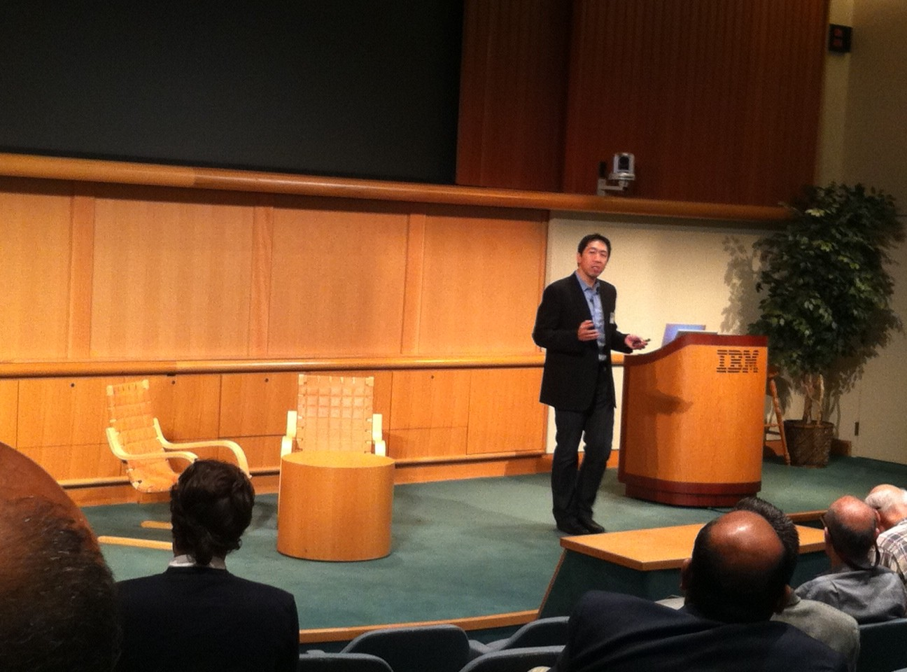 Andrew Ng, a co-founder of Coursera, at an IBM research event
