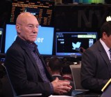 Patrick Stewart assumes his captain's pose