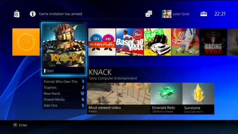The PlayStation 4's digital store.