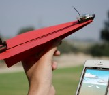 PowerUp 3.0 attaches a motor to a paper airplane. Fly it with an iPhone.