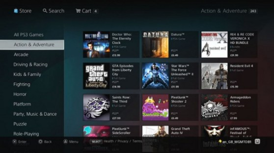 PlayStation Store (on PS3)