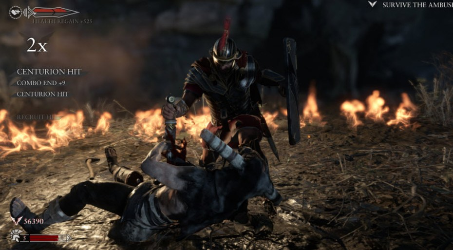 Crytek's Ryse: Son of Rome in action for Xbox One.