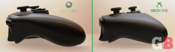 Sides - Xbox 360 vs Xbox One controllers