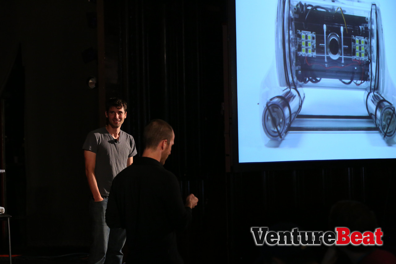 Eric Stackpole and David Lang on stage at DevBeat