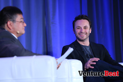 Brendan Iribe of Oculus VR opened the event with a talk on how virtual reality will go mobile and create its own content ecosystem.
