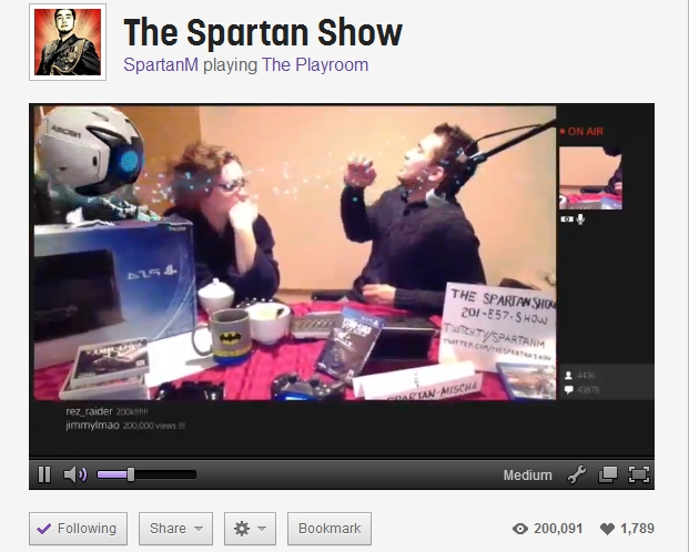 The Spartan Show 200000 views