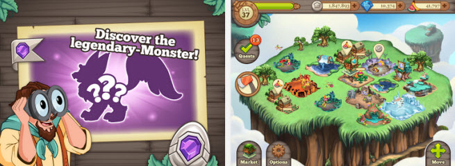 TinyCo's Tiny Monsters game.