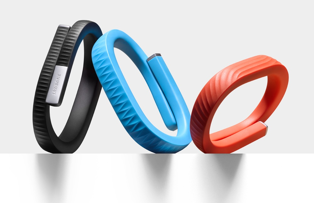 Up24 (left and right) and Up (center) health bands