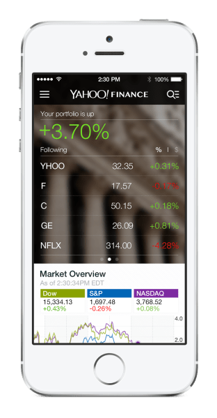 Yahoo Finance iPhone - feed