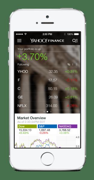 Yahoo Finance iPhone - feed
