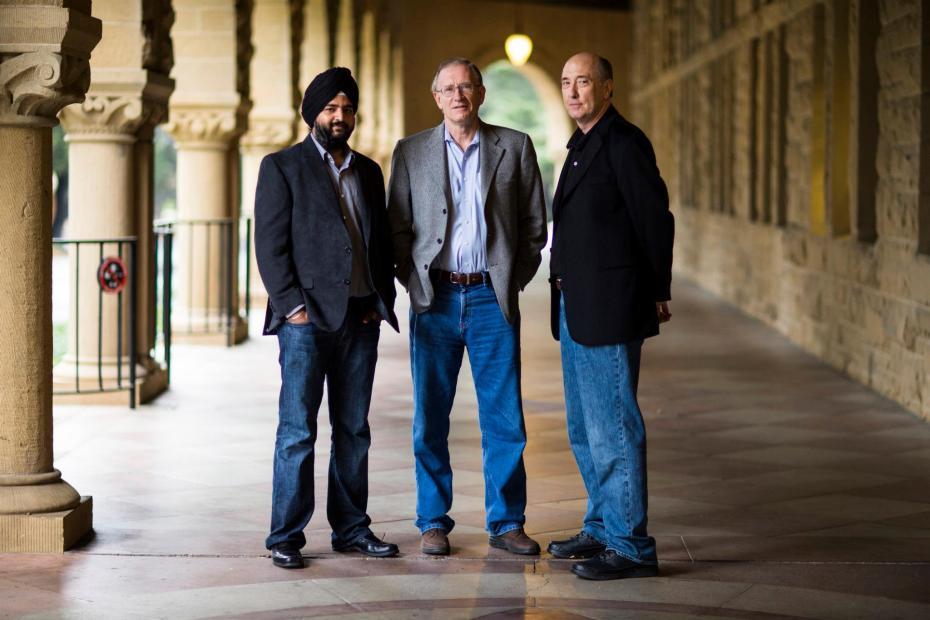 Ayasdi's three founders: Gurjeet Singh, Gunnar Carlsson, and Harlan Sexton.