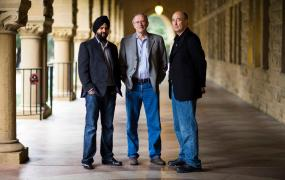 Ayasdi's three founders: Gurjeet Singh, Gunnar Carlsson, and Harlan Sexton.