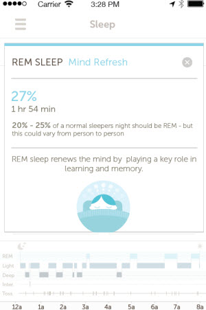 Basis can track your REM sleep.