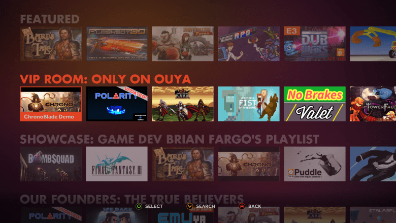 Ouya's Discover store.