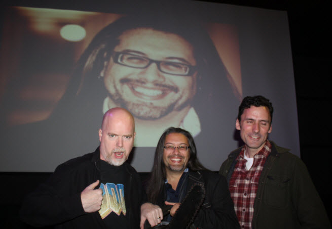 Doom co-creators Tom Hall, John Romero, and Dave Taylor.