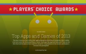 Google awards app and games on Play with Players' Choice awards.