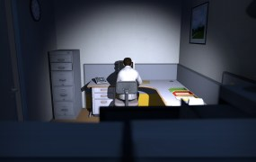 A screenshot from The Stanley Parable.