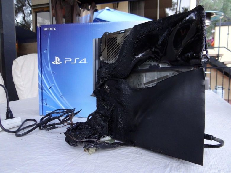 A PlayStation 4 launch console sold on eBay as part of Kenny Irwin Jr.'s microwave art series