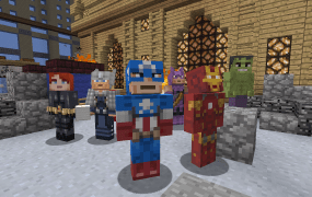 Marvel's superheroes and villains are about to get their own skins in Minecraft: Xbox 360 Edition.
