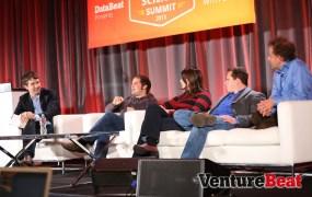 Michael Driscoll of Metamarkets; Pete Warden of Jetpac; Monica Rogati of Jawbone; Peter Skomoroch, formerly of LinkedIn; and Jeremy Howard of Singularity University.