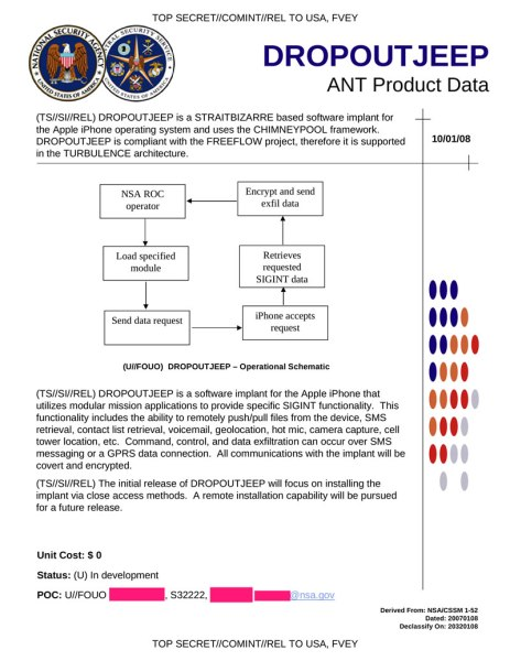 NSA DROPOUTJEEP iPhone hack