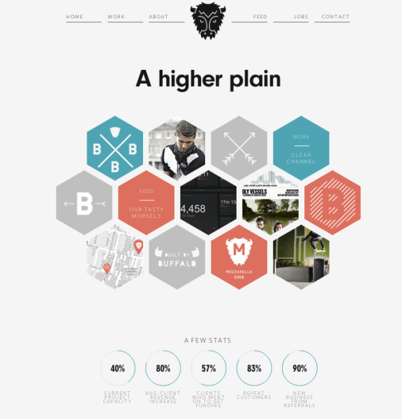 Website for design firm Buffalo.