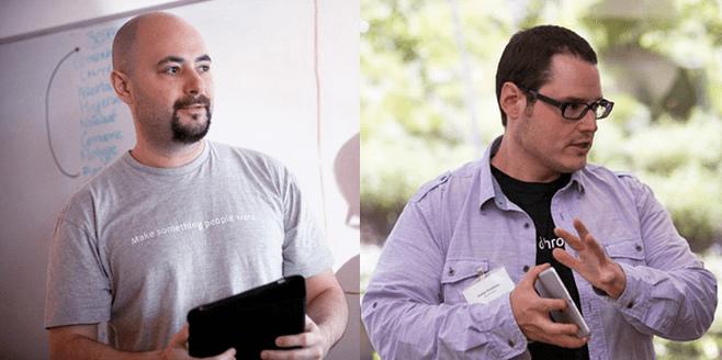 DrChrono's founders Michael Nusimow and Daniel Kivatinos