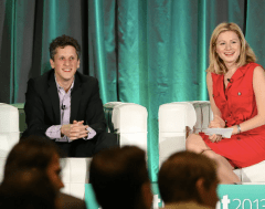 Box's Aaron Levie with VentureBeat's Christina Farr