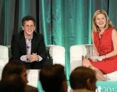 Box's Aaron Levie with VentureBeat's Christina Farr