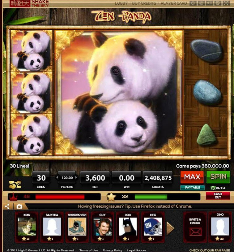 Shake the Sky is High 5 Games' new social casino games with Asian themes.