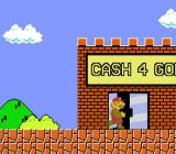 Mario trades in some of his gold coins to help his company stay solvent.