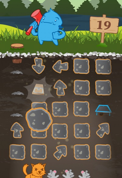 Clobbr has puzzle-based gameplay.