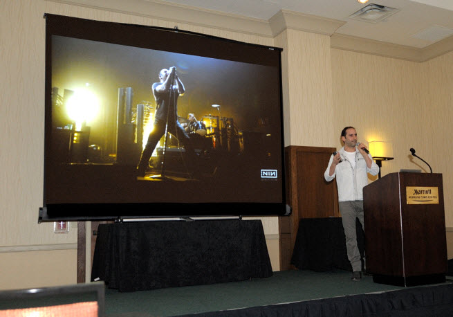 Elan Lee of Microsoft's Xbox Entertainment Studio talks at Power of Play