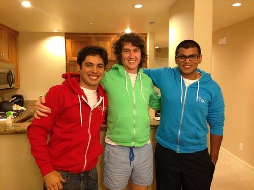 Fluc founders Tim Davis, Pako Magdaleno, and Adam Ahmad.