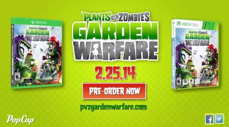 Plants vs. Zombies: Garden Warfare gets a new date.