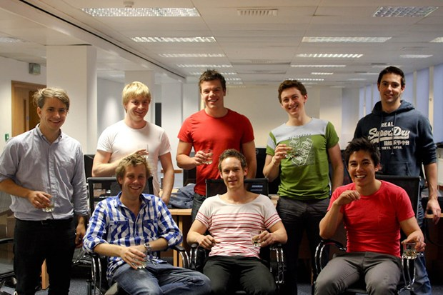 The GoCardless team in 2012