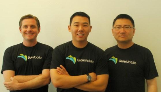 A.J. Yeakel, Brendan Lyall, and Minglei Xu of Grow Mobile.