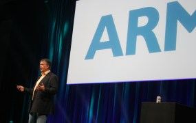 Ian Drew, ARM's chief marketing officer, speaks at the Open Compute Project Summit in Jan. 29.