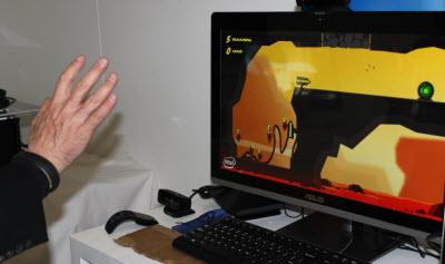 Intel produced the Hoplites gesture game demo.