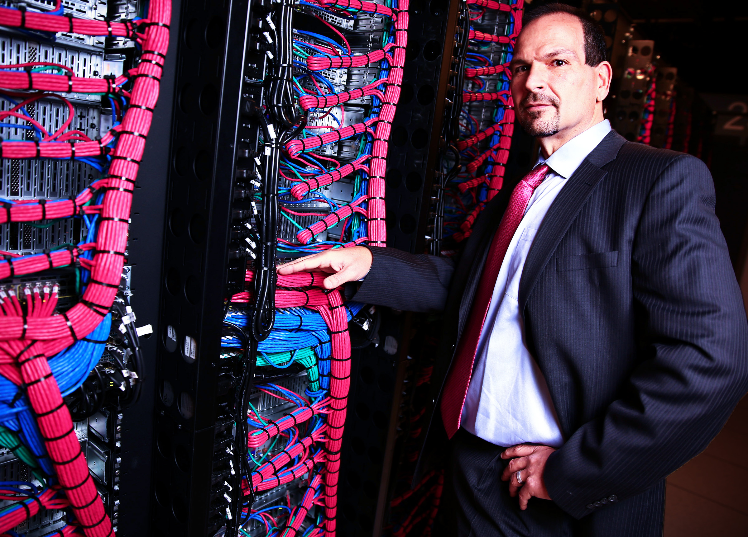 Lance Crosby, chief executive of IBM's SoftLayer cloud business, at the SoftLayer data center in Dallas.