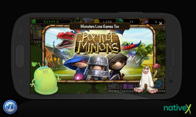 Native X Pocket Minions ad