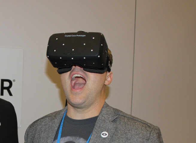 Aaron Davies, head of developer relations at Oculus.