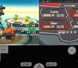 Pokémon running on a phone using an emulator.