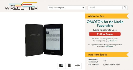 Promoted listings, Wirecutter